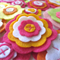Bright Felt Flowers Wall Decorations, Girls Bedroom Decor