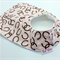 Baby Girl, Infant Bib, Pink and Horseshoes, Cotton and Bamboo, Snap Fastened.
