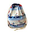 Large Waterproof Drawstring Swim Bag. Beach Bag - Sailing Boat
