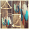 Feather and driftwood wall hanging