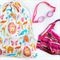 Large Swim Bag / Waterproof Wet Bag. Zoo Animal Party! Pool or Beach Bag.