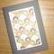 Chiyogami - Brown, Green & White Daisies (C6)
