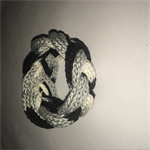 Black, white, and grey cotton woven knot bracelet