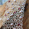 Pearl and crystal silver wire crochet bracelet