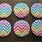 Multi Colour Chevron Stripe - Large Magnets – Set of 6