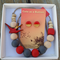 Serene Sparrow Jewellery Set - Red/Charcoal
