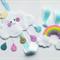 Princess Cloud Glitter Raindrops & Rainbow Hair Clip Holder