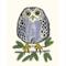 Nursery Art Print - Freddy the Owl - Owl Art Print  A4 print