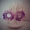 Variegated Purple Hand Crochet Cotton Earrings