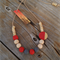 Neck Candy Necklace - Ruby Red/Charcoal