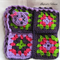 Crocheted Kitty Afghan (Mauve, Purple and Green)