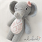 Crochet Elephant, Amigurumi Soft Toy, Elephant Toy, Grey/Pink