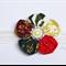 Christmas Patchwork Flower Fabric Headband