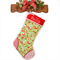 Personalised Christmas Stocking 'Home for the Holidays on Green'