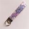 Key fob purple vintage floral