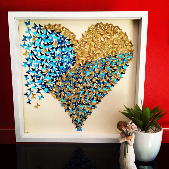 Home Design 3d Gold Ideas: Gold & Blue Heart