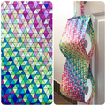 Double Toilet Roll Holder/ Toilet Paper Holder - Geometric Triangles