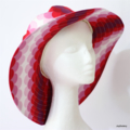 Ladies Spot Red and Pink Ombre Sunhat Size 57.5cm