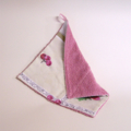 ECOFRIENDLY COTTON CLOTH Vintage, Deep Dusty Pink Chenille and Tablecloth Linens