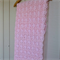 pink daisy blanket, heirloom, wedding, baptism, christening, princess, baby gift