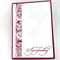 Sympathy Card - Burgundy with White Butterflies
