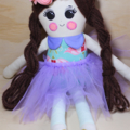 Flower crown princess cloth doll