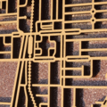 Preston 3072, Victoria. Laser cut, street map, wall decoration in MDF & coloured