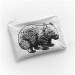 Wombat screen printed purse