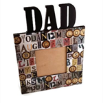 Wooden Dad Photo Frame - Rustic Theme