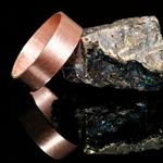 Brushed copper men's ring