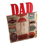 Wooden Dad Photo Frame - Garage Theme