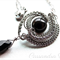Stainless Steel Wire-Woven Swarovski Pearl & Faceted Briolette Pendant