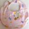 Pink Noah's Ark Baby to Toddler Bib