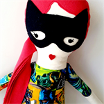Handmade Cloth Doll Batman Fan