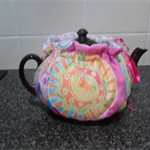 Tea Pot Cosy Padded Reversible  Quilted Retro