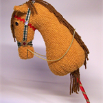 CHRISTMAS HOBBY Horse Decoration, Vintage Chenille, Prim, Childrens Toy, On Sale