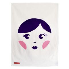 SAMPLE SALE // Sweet Babushka Screen Printed Kitchen Tea Towel