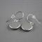 Women's round resin silver drop earrings Alexander Henry black floral art print