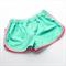 Teal / Aqua & gold crosses girls  Sporty Shorts