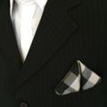Pocket Square - Black and white... and pink!