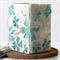 Turquoise Floral Mosaic Vase