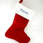 Christmas Santa Stocking with personalized child's name for Girl or Boy.
