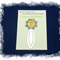 Solar Plexus Chakra Bookmark ~ Glass Tile ~ Antique Silver