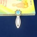 Throat Chakra Bookmark ~ Glass Tile ~ Antique Silver