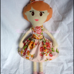 Floral Ballerina Little Lady Fabric Doll