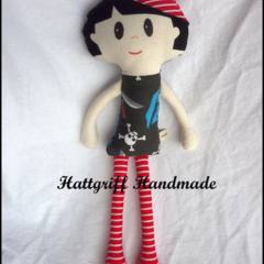 Master Pirate Little Mate Fabric Doll