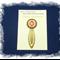 Root Chakra Bookmark ~ Glass Tile ~ Antique Bronze