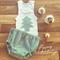 Chevron print christmas applique singlet & nappy cover set | Sz 0000-3