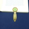 Heart Chakra Bookmark ~ Glass Tile ~ Antique Bronze