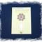 Crown Chakra Bookmark ~ Glass Tile ~ Antique Silver